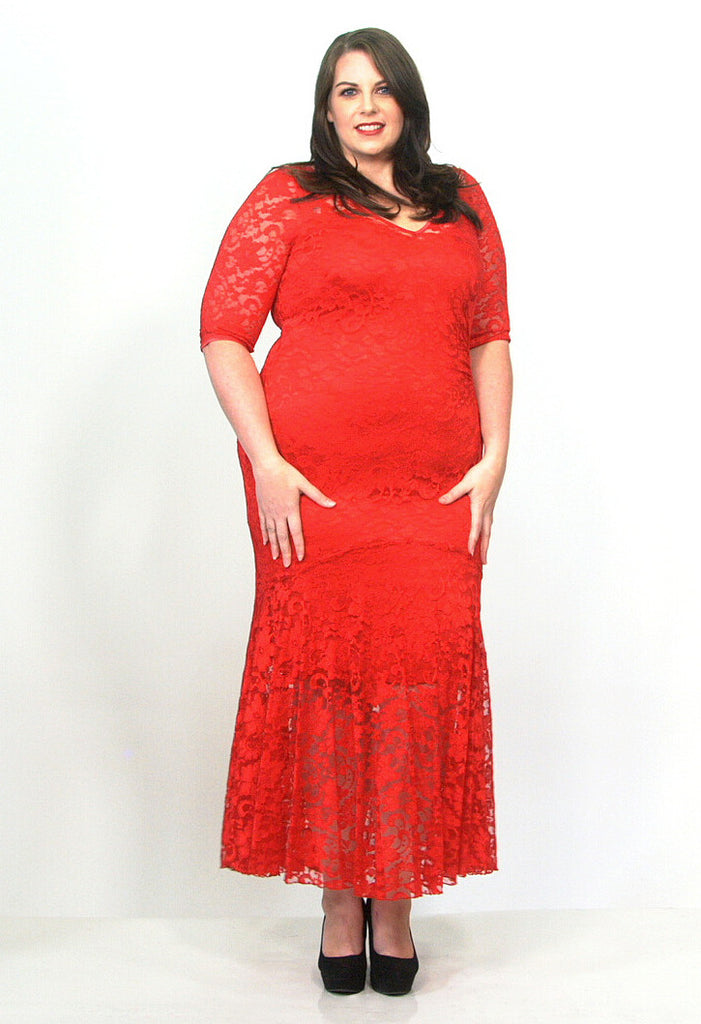 Fishtail Lace Maxi Dress - scarlettandjo  - 3