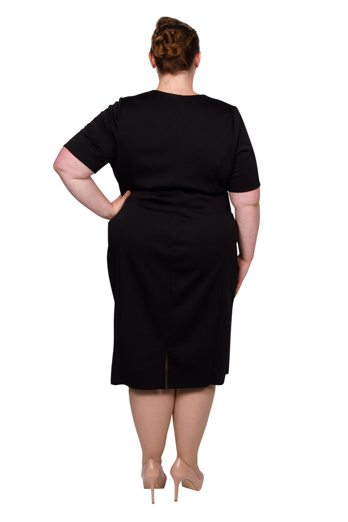Twist Skirt Bodycon Dress (Black)