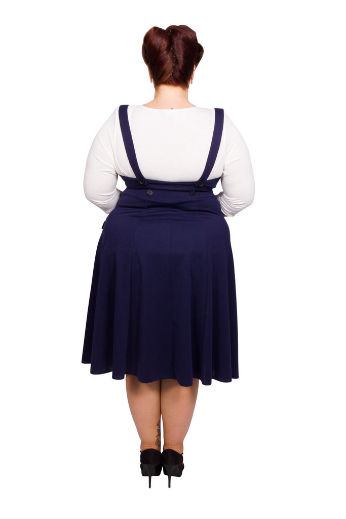 Wrap Pinafore Dress