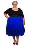 Sweetheart 2-In-1 Dress (Cobalt) - scarlettandjo  - 2
