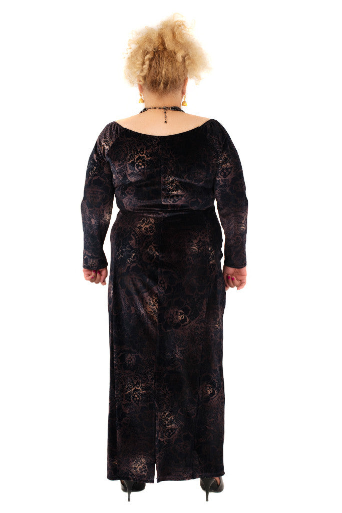 Georgina Velvet Maxi Dress - scarlettandjo  - 9