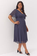 Annabelle Angel Sleeve Midi Dress