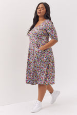 Daisy Vintage Multi Coloured Fit & Flare Dress