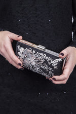 Scarlett & Jo Bags Elise Embroidered Clutch Bag - Black