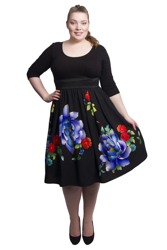 Sweetheart 2-In-1 Dress (Black/Cobalt/Red)