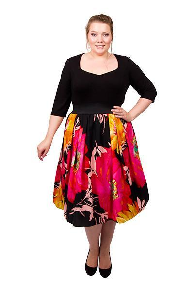 Sweetheart 2-In-1 Dress (Tropical Print)