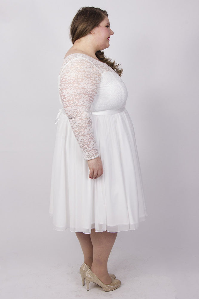 Scarlett & Jo Bridal Ivory / 12 Bridal lace prom dress