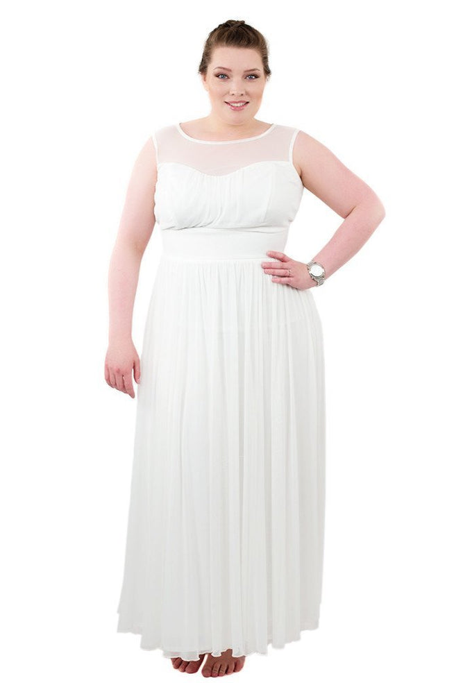 Sweetheart Front Bridal Maxi Dress