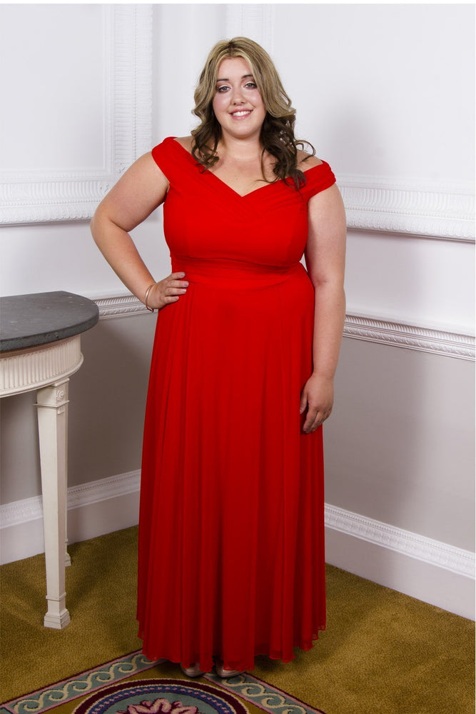 Scarlett & Jo Dresses 10 / Hot Paprika The Bardot Monroe Gown