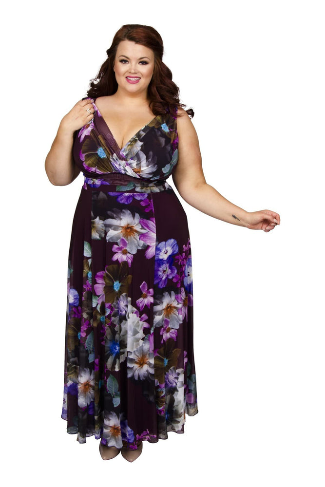Scarlett & Jo Dresses 10 / Plum / Purple Nancy Marilyn 'In Shanghai' Maxi Dress
