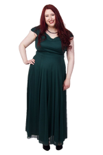 Scarlett & Jo Dresses Atonement Green / 12 Off The Shoulder Wrap Maxi Dress