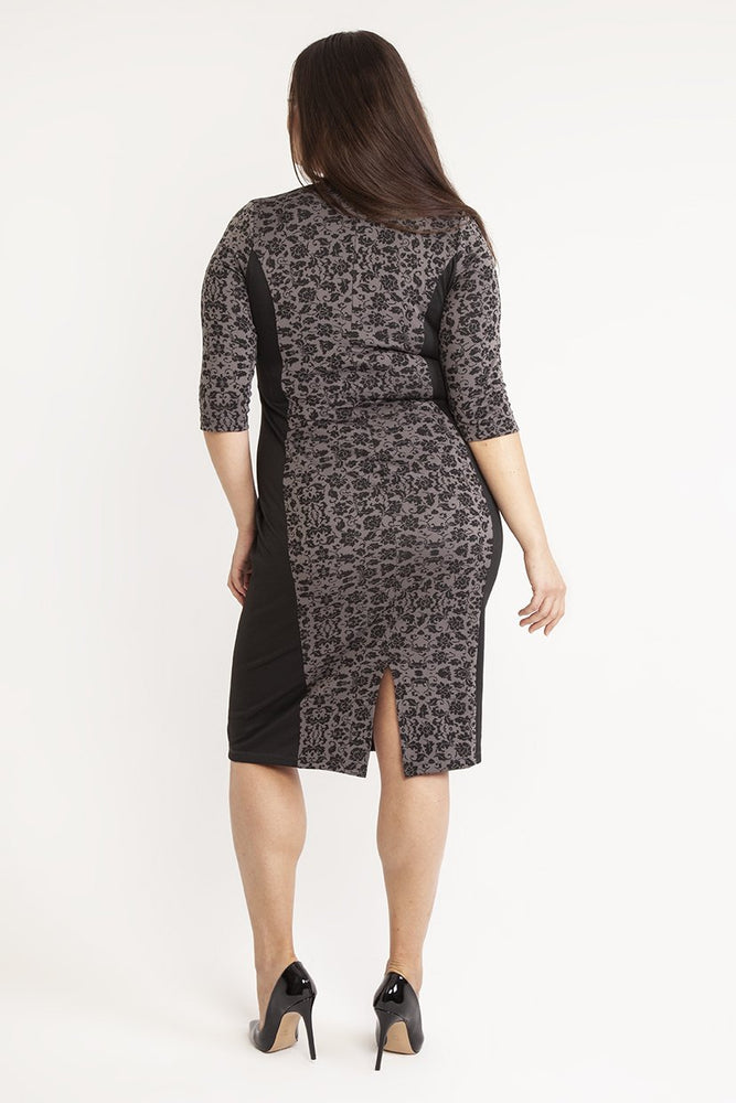 Scarlett & Jo Dresses Betty Black Panel Bodycon Dress