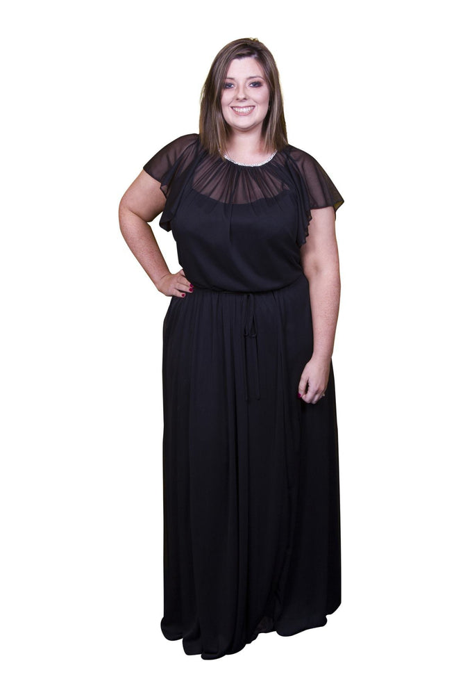 Scarlett & Jo Dresses Black / 10 Chiffon Maxi Dress