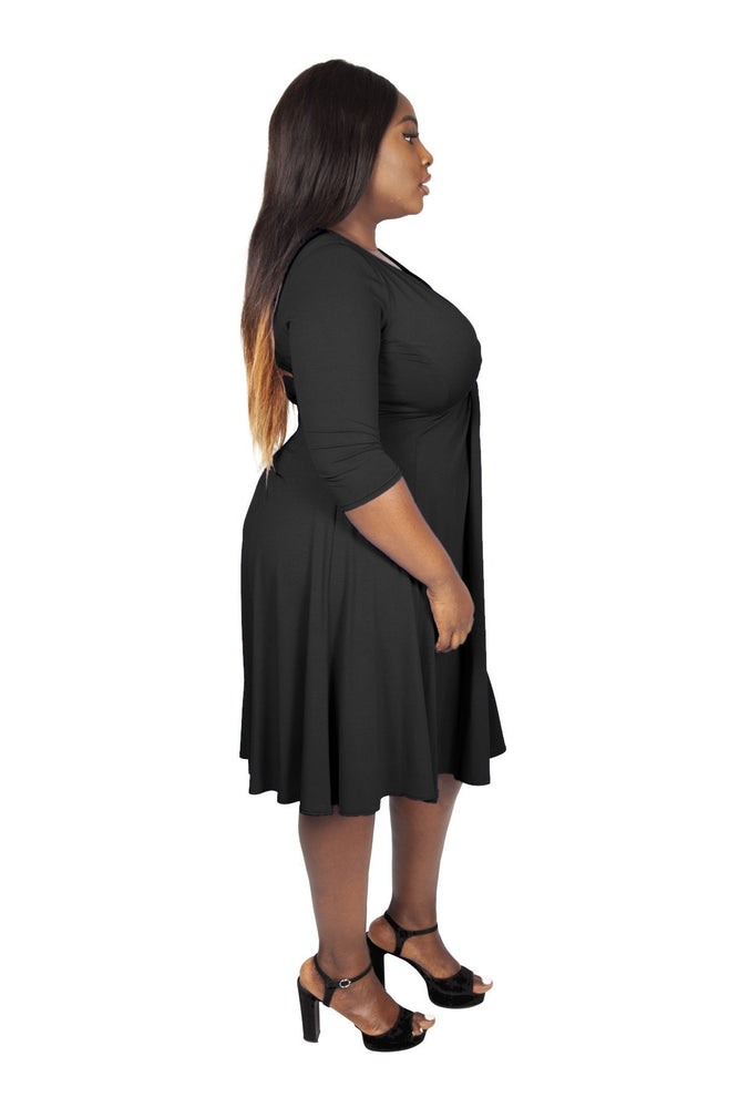 Scarlett & Jo Dresses BLACK / 10 Lauren Knot Front Dress