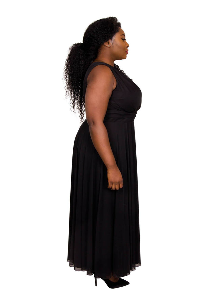 Scarlett & Jo Dresses Black / 10 Nancy Marilyn Chiffon Maxi Dress