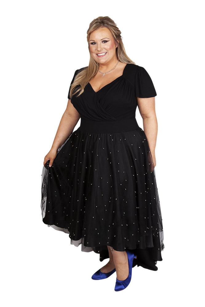 Scarlett & Jo Dresses BLACK / 10 'Silver Pearl' Skirt Fairytale Dress