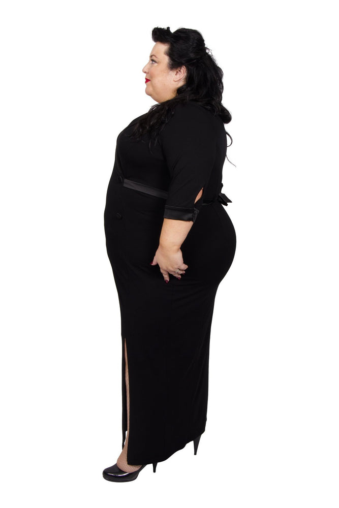 Scarlett & Jo Dresses Black / 10 Tuxedo Maxi Dress
