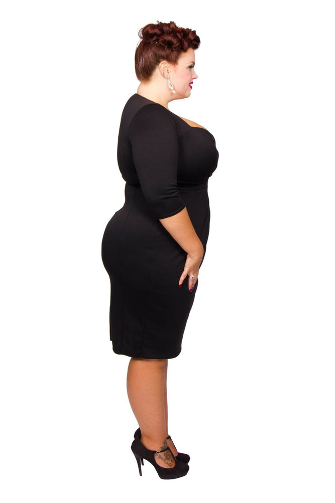 Scarlett & Jo Dresses Black / 10 Twist Skirt Bodycon Dress