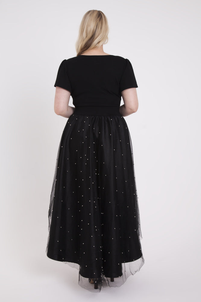 Scarlett & Jo Dresses BLACK / 12 'Silver Pearl' Skirt Fairytale Dress