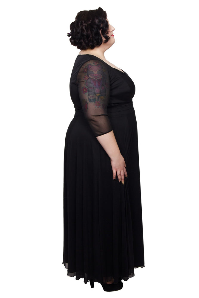 Scarlett & Jo Dresses Black / 12 Wrap Top Belted Maxi Dress