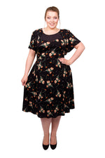 40's Sweetheart Mesh Panelled Dress