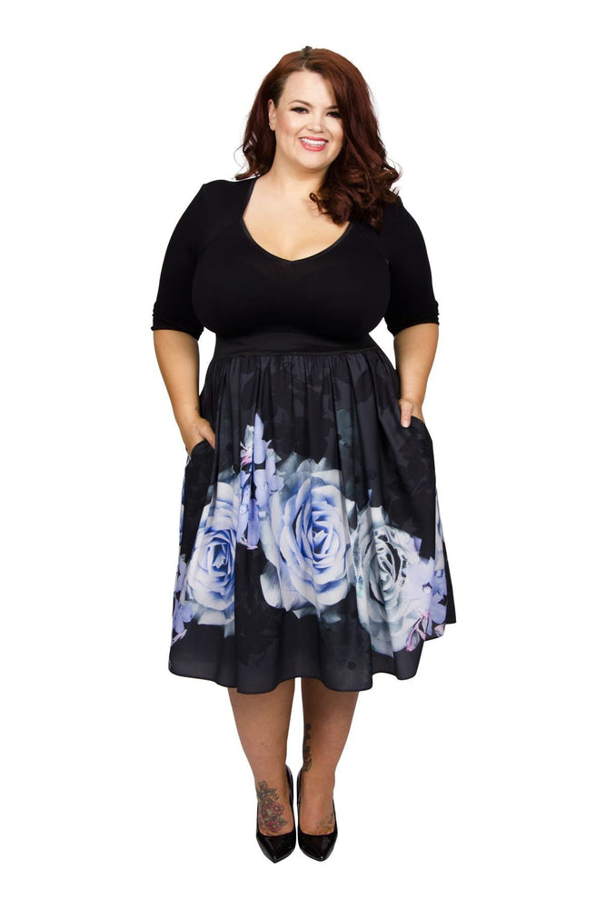 Scarlett & Jo Dresses Black/Blue / 14 Kelly Rose Bolero 2 in 1 Dress