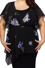 Scarlett & Jo Dresses Black/Lilac / 10 The Alison 2 Piece Chiffon Dress
