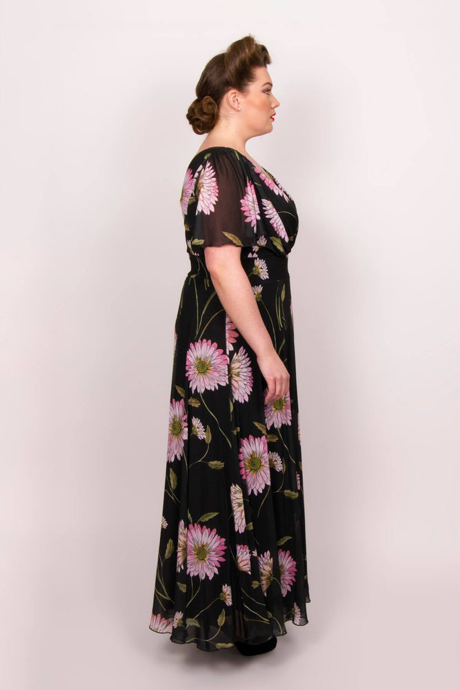 Scarlett & Jo Dresses BLACK/PINK / 10 Marilyn Float Sleeve Maxi Dress