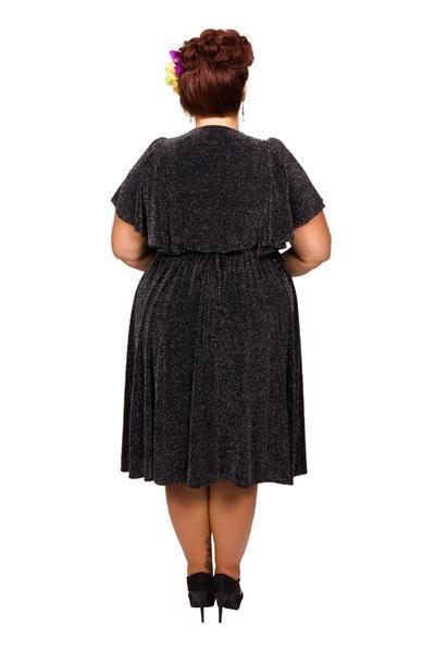Scarlett & Jo Dresses Black/Sky / 12 40's Angel Sleeve Lurex Dress