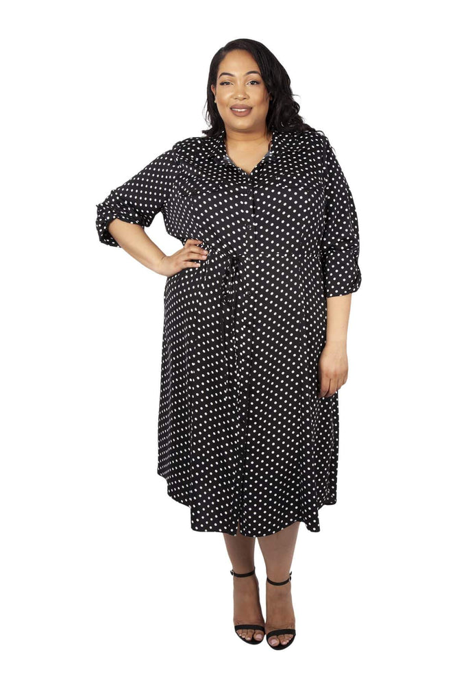 Scarlett & Jo Dresses BLACK/WHITE / 10 Lollidot Shirt Dress