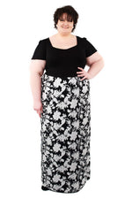 Scarlett & Jo Dresses Black/White/Grey / 12 Tall 2-In-1 Maxi Dress
