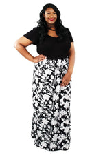 Scarlett & Jo Dresses Black/White/Grey / 14 Tall 2-In-1 Maxi Dress