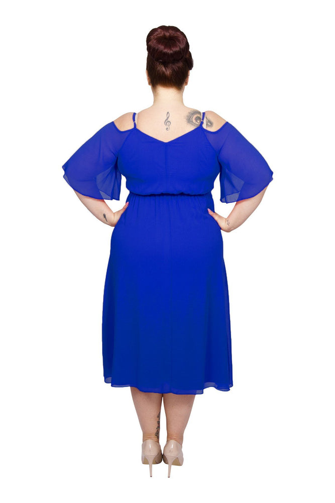 Scarlett & Jo Dresses Blue / 10 Gina Cold Shoulder Dress