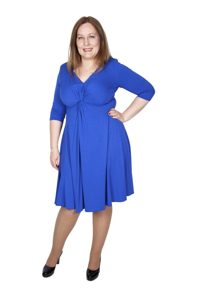Scarlett & Jo Dresses BLUE / 10 Lauren Knot Front Dress