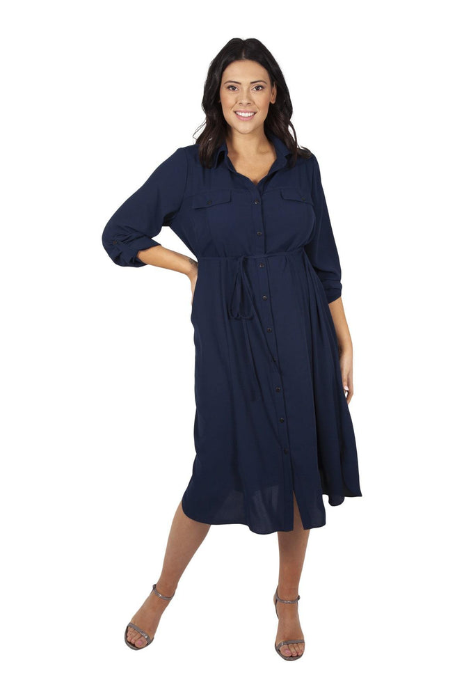 Navy Shirt Dress