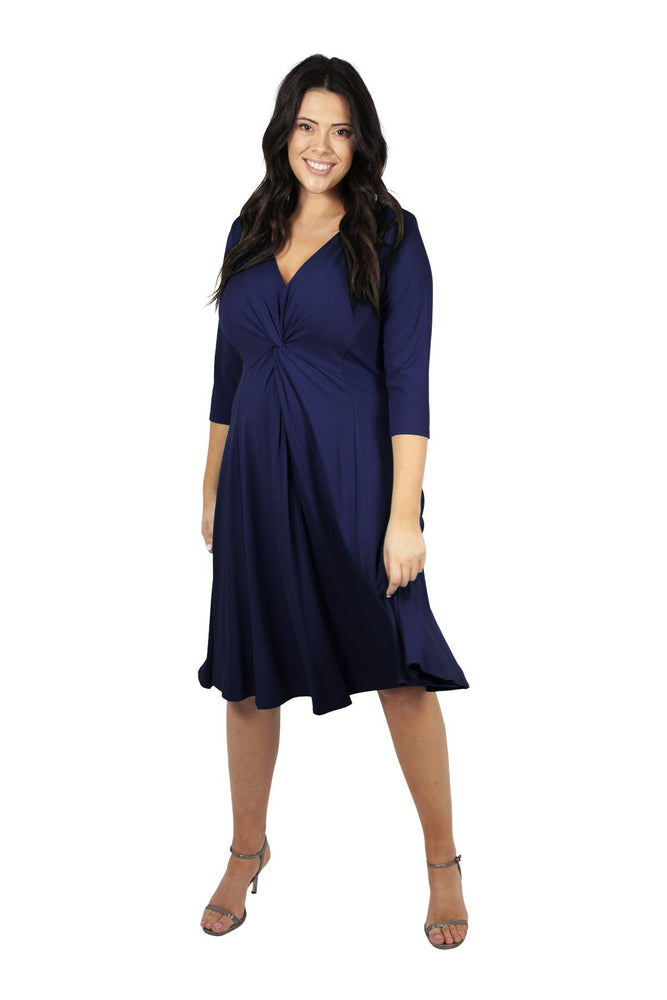 Scarlett & Jo Dresses Blueberry / 12 Lauren Knot Front Dress