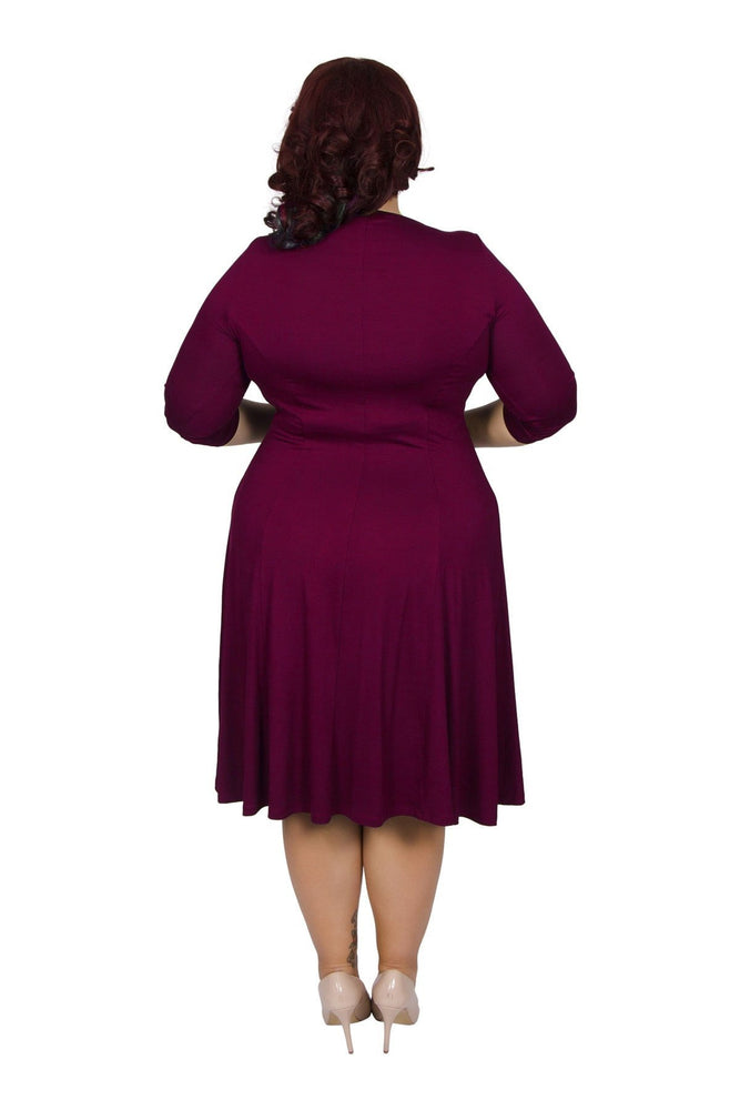 Scarlett & Jo Dresses Burgundy / 10 Jersey Knot Front Dress