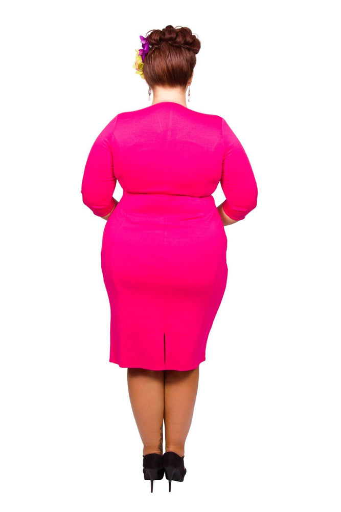 Scarlett & Jo Dresses Cerise / 10 Twist Skirt Bodycon Dress