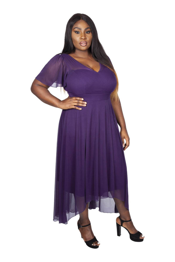 Scarlett & Jo Dresses DAMSON / 10 The Tilly Angel Sleeve Sweetheart Dress