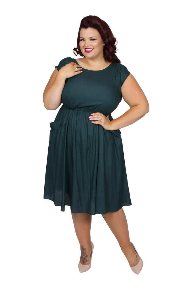 Scarlett & Jo Dresses Dark Green / 10 Pocket Dress