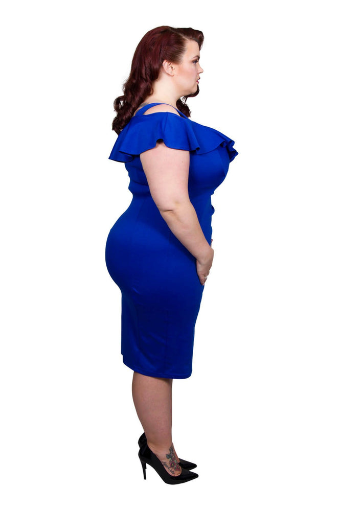 Scarlett & Jo Dresses Deep Sapphire / 12 Bardot Bodycon Dress