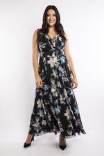 Scarlett & Jo Dresses Florence Black Chiffon Print Maxi Dress