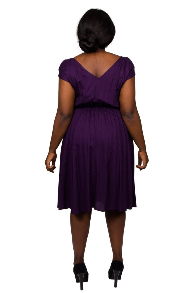 Scarlett & Jo Dresses Grape / 10 Pocket Dress