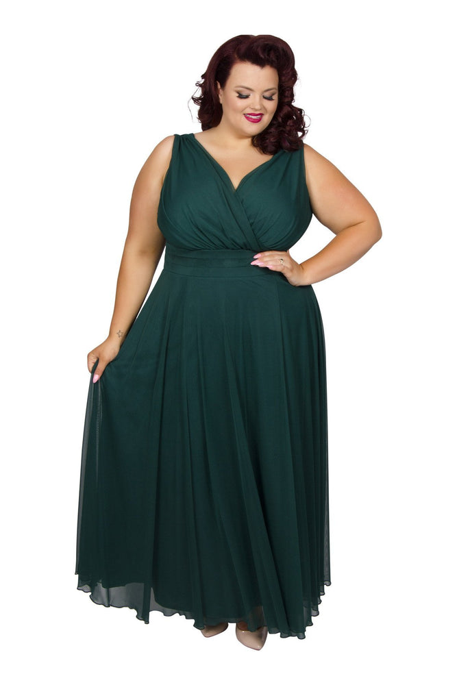 Scarlett & Jo Dresses Green / 10 Nancy Marilyn Chiffon Maxi Dress