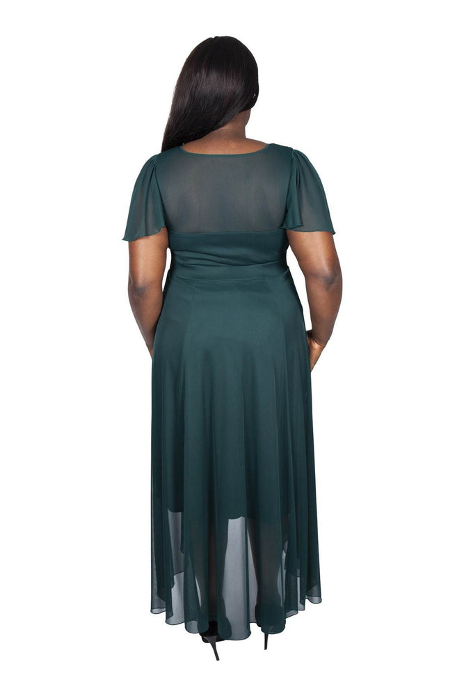 Scarlett & Jo Dresses GREEN / 10 The Tilly Angel Sleeve Sweetheart Dress