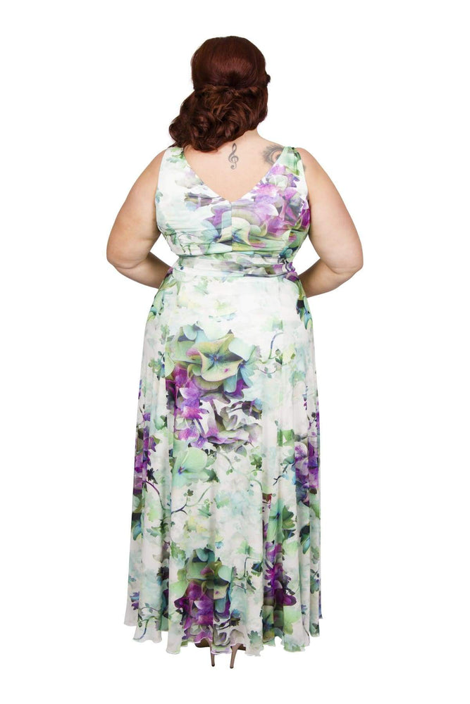 Scarlett & Jo Dresses GRNPURPLE / 10 Nancy Marilyn 'In Tokyo' Maxi Dress