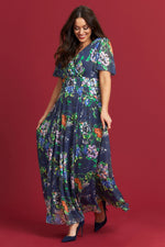 Scarlett & Jo Dresses Isabelle Navy Float Sleeve Maxi Dress