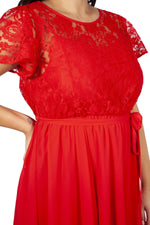 Scarlett & Jo Dresses Lace Top Chiffon Dress