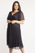 Scarlett & Jo Dresses Lottie Heart Angel Sleeve Midi Dress