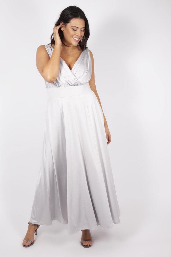 Scarlett & Jo Dresses Maya Silver Grey Maxi Dress